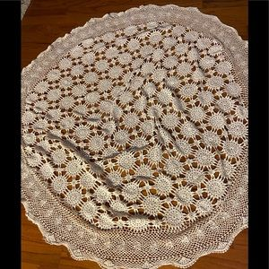 "60"" Round Cotton Crochet tablecloth!"